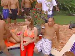 Pornstar Pool Orgy