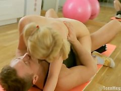 Hot Blonde Yoga Slut