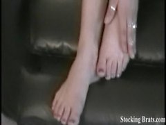 Carmen wants you to worship her feet in stockings