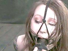 Kasten gebundenen Prostituierte Handhabung Dildo von Kinky maledom Master