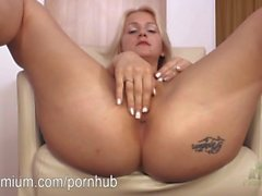 Ashley Love masturbating her sexy wet pussy