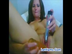 Young MILF bigboob masturbates double toys on webcam freesexcams