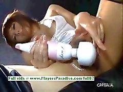 Rui Shiina prachtige Aziatisch meisje strelt haar kutje