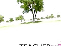 Lehrer gefangen und hat erste Mal dreier mit Teens