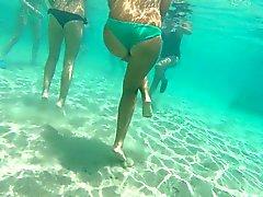 Italienischer Teenager Riemen GoPro Wasser