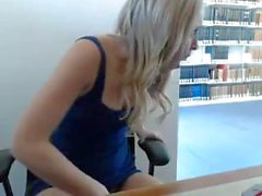 Blond webcam library show