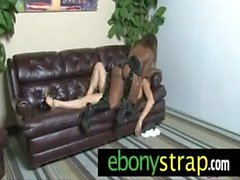 Interracial lesbians strapon hard love 9