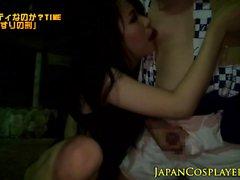 Cosplay del extraño eyacula asian