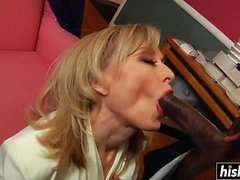 Amazing MILF takes a big black cock