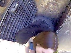 étudiante obsédée Ruslana se faire ruiner dans une allée