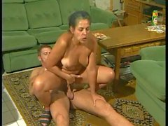 Horny aunt and her athletic nephew -