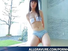 Oshima Tamana enjoys shower after gym