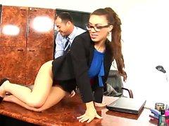 Sexy Tiffany Doll seduces her boss
