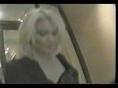 cum covered german slut in public