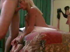 Fit horny aussie blonde deepthroats, gets fucked and covered in cum by me