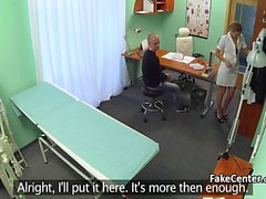 Hot nurse fucked her old profesor
