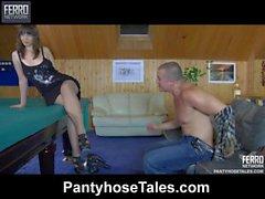 Ella&Nicholas mindblowing pantyhose movie