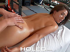 Jynx maze receives her butthole shoved in the gym