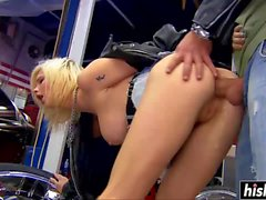 Lucky guy gets to fuck a blonde babe