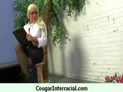 Is nice to fuck a nasty cougar 1