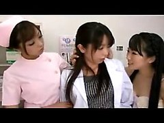 Three delightful Oriental babes enjoying a torrid lesbian e