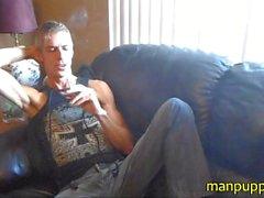 DILF Smoking Fetish Fantasy und wichst - Manpuppy