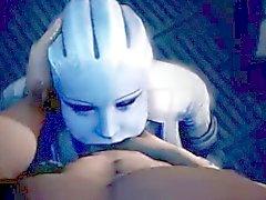 Mass Effect Liara Deepthroat pijpbeurt