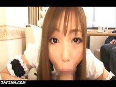 Maid Costumed Japanese Girl