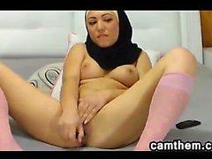 Pretty Arab Masturbates