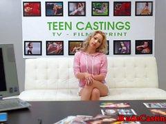 Smalltits casting teen gets fucked