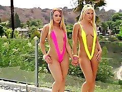 Damn Anikka y AJ tener sexo trío en locura