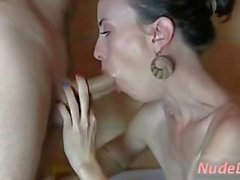 Very Hot Amateur Czech Teen Blow and Footjob on Webcam