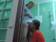 mom and NOT her son fuck in the bathroom