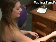 Hot student using fucking machines