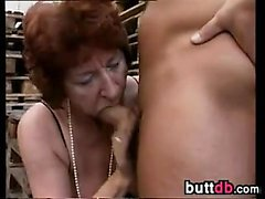 Nasty European Grandma In A Gang Bang