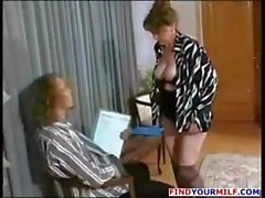 Mature brunette Russian Rebecca gets and gives head and gets nailed