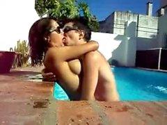 Ale Sergi (MIRANDA) & Nieves Jaller in the Pool