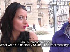 Amazing Vicky Love fucks the masseur