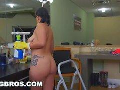BANGBROS - Thick Latina Maid Kimmy Kush Gets Cuban Big Ass Fucked