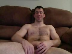 Hairy Muscle Home Solo (Jerk Off & Cum)