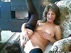 Avó começ nus e Masturbates