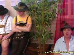hot german girls lederhosen gangbanged