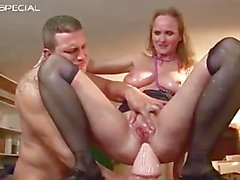 Mature MILF gets all her holes filled part5