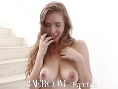 BAEB Welcome home couch fuck with busty babe Lena Paul