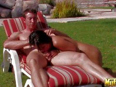 Lana Violet gets her asian hole stuffed in the sun