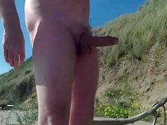 exhibitionist gras dick sur la plage