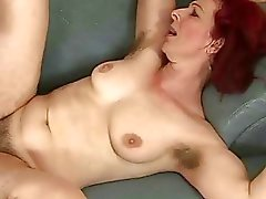 Hairy old redhead fucking with a boy