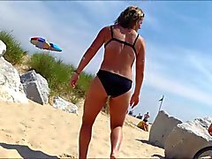 Candid Beach Bikini Ass Butt West Michigan Booty Aussie
