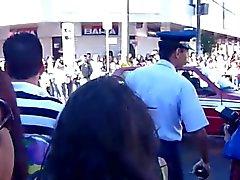Sexy mature at the parade 2