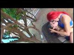 Brazillian kissing in high heel